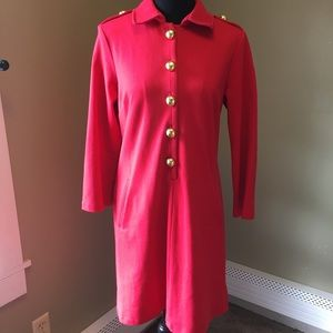 Red military style Elizabeth McKay Red knit dress
